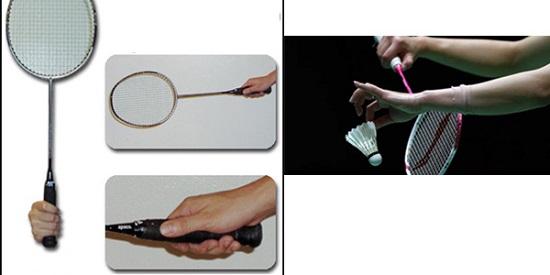 cầm vợt cầu lông đúng cách