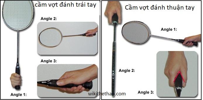 Cách cầm vợt cầu lông đúng