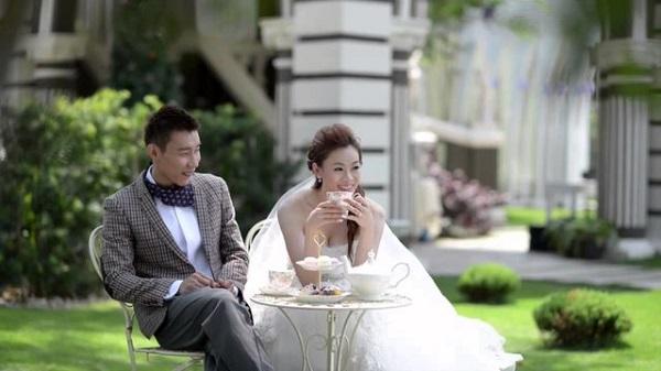 Lee Chong Wei và vợ trong ngày cưới
