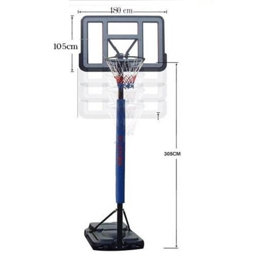 chiều cao rổ bóng rổ
