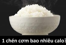 1 chén cơm bao nhiêu calo